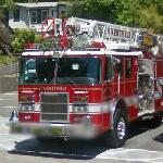 A tiller ladder of the Kentfield Fire Protection District (StreetView)
