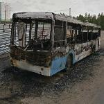 Burned bus