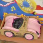 Pink toy sports car (StreetView)