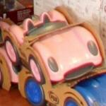 Pink toy sports car