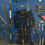 Weapons confiscated from criminals (Vancouver Police Museum)