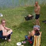 Barbecue in the lake