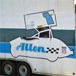 Bobby Allen's racing hauler