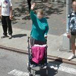 Waving at the Google Street View Car