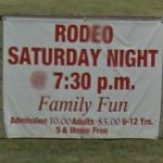 Advertisement for a rodeo