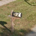 Hot Rod Flames On A Mailbox