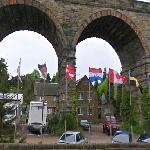 Flags & Disused Railway Viaduct
