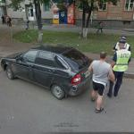 Car Crash And Cops (StreetView)