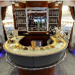 Bar on an Emirates Airbus A380