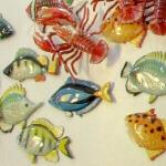 Sea Life refrigerator magnets