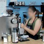 Barista making a drink (StreetView)