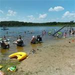 Playing in Crooked Lake