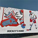 """Hockey's Home"" mural"