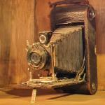 Antique folding camera (StreetView)