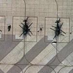 Squadron of UH-60 Blackhawks at Nellis AFB (Google Maps)