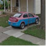 Car With Radical Paintjob (StreetView)