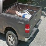 Body in a pickup truck