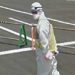 Guard near the Fukushima-1 nuclear plant
