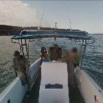 Google boat in Galapagos Islands