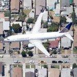 Continental Airlines Jet Approaching LAX