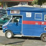 New York Giants camper van