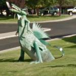 Dragon sculpture (StreetView)
