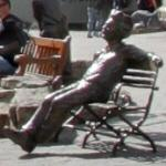 Einstein bench sculpture