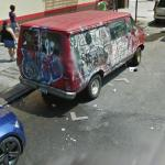 Van Covered With Graffiti