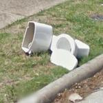 Trashed Toilet