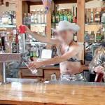 Bartender pulling a beer