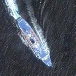 Cruise Ship next to Tinos (Google Maps)