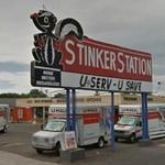 Stinker Station Sign