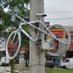 Ghost Bike for Fernando Couto (StreetView)