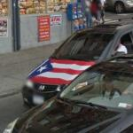 Puerto Rican Flag Painted On A Vehicle
