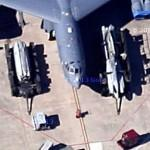 Arming of a B-52 with ALCM and bombs (Google Maps)