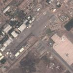 Dassault Rafale of the French Air Force in N'Djamena, Chad (Operation Serval) (Google Maps)