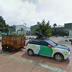 Google Street View car with a trailer