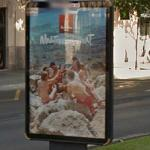 Ad for beer (Estrella Damm) (StreetView)