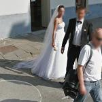 Bride and groom (StreetView)