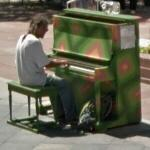 Man playing a piano