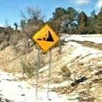 Falling Rock Warning Sign