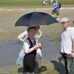 Lady with an umbrella