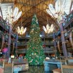 Christmas decorations at Disney's Animal Kingdom Lodge