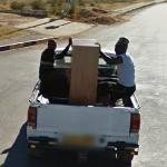 People holding cargo