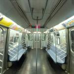 On board an R142A New York City Subway car