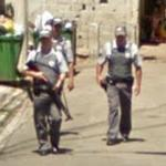 Policemen on patrol