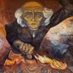 Mural of Miguel Hidalgo by Clemente Orozco