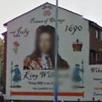 Mural of King William III