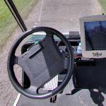 Inside a golf cart