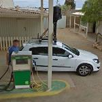 Google car getting gas
